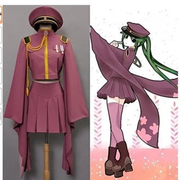 Vocaloid Cosplay Hatsune Miku Cosplay Senbonzakura Kimono Uniform Dress Outfit Anime Cosplay Costumes Full Set
