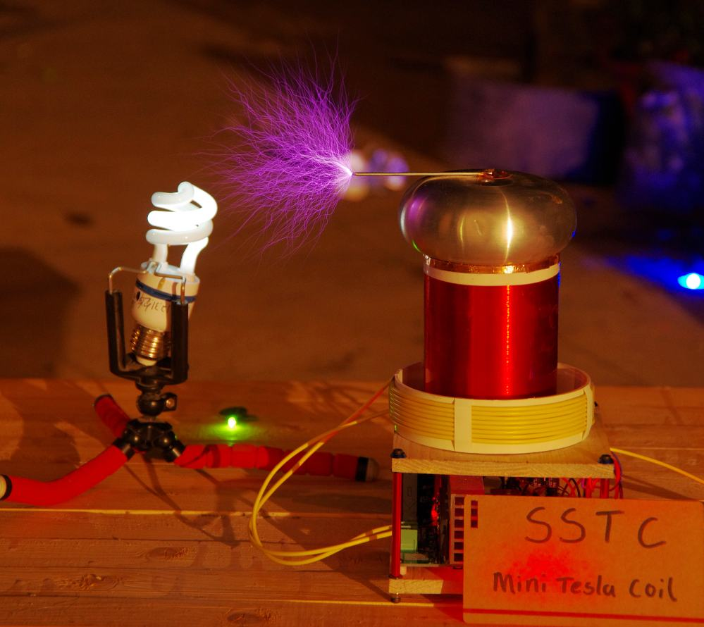 Mini Tiny SSTC tesla coil Assembled support MIDI Music arc extinguishing Lightning spark generator new tesla pll sstc music electronic toys arc plasma horn sing wireless transmission