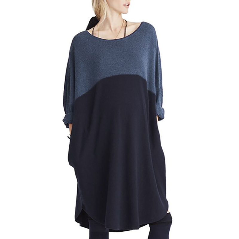 New Arrvial 2018 New Autumn Maternity Women Dress Long Sleeve O Neck Patchwork Casual Loose Pregnant Clothes for Women