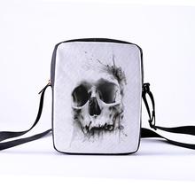 CROWDALE 2018 fashion Women Messenger Bags 23x17x5cm Punk style Shoulder Bag Children Crossbody Bag for Girls Skull photo style