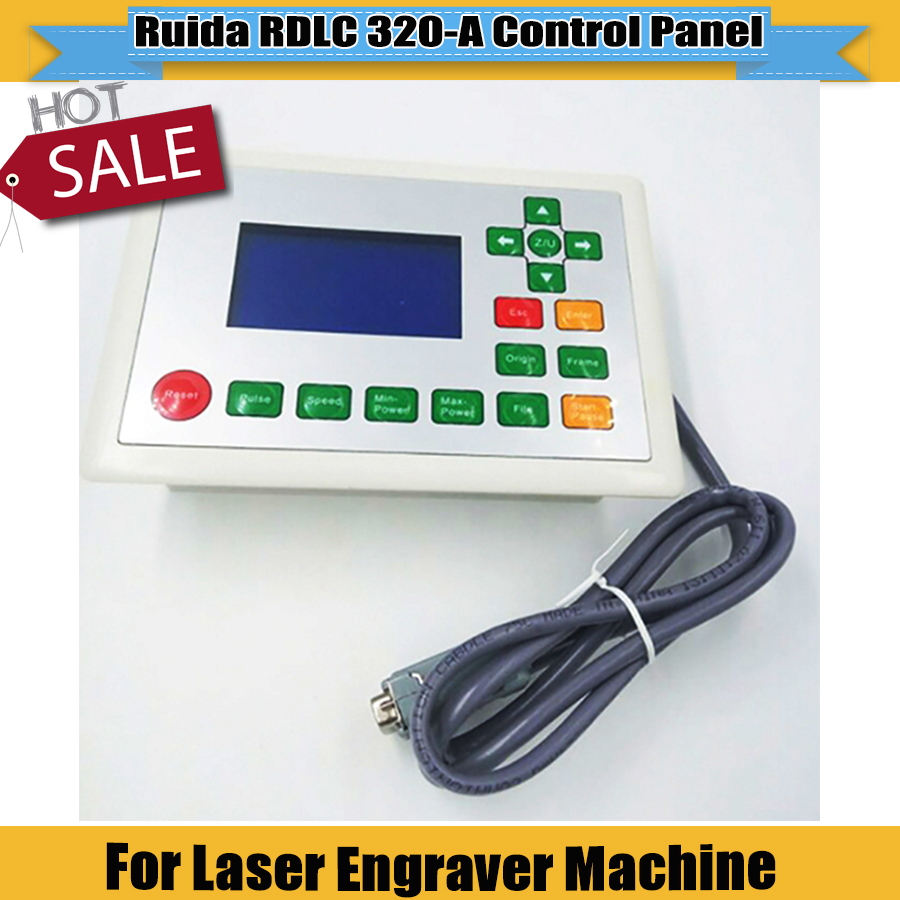 New Ruida RDLC320-A  Control Panel Ruida 320 Used For CNC Laser Engraver Cutting Machine Ruida System Support RDworks Software