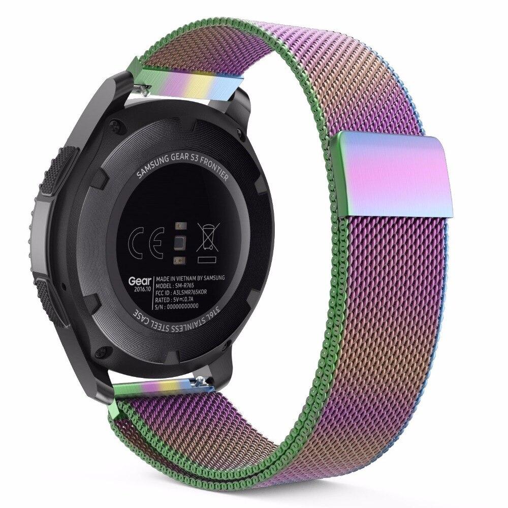 14/16/18/24mm Milanese Schleife Allgemeinen Uhr Band Edelstahl Milanese Band 20/22mm Für Samsung Galaxy Uhr 42mm 46mm Bands Ungleiche Leistung