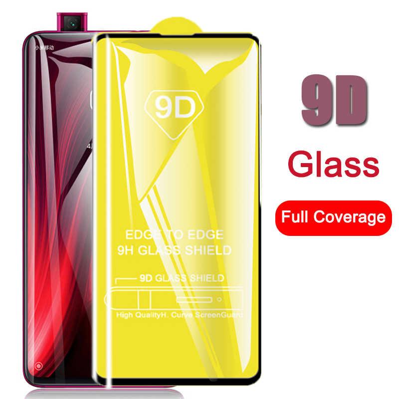 Para Xiaomi mi 9 t redmi k20 pro cubierta de pegamento completo protector de vidrio en mi 9 t mi 9 t ksio mi k 20 pro Protector de pantalla de vidrio templado