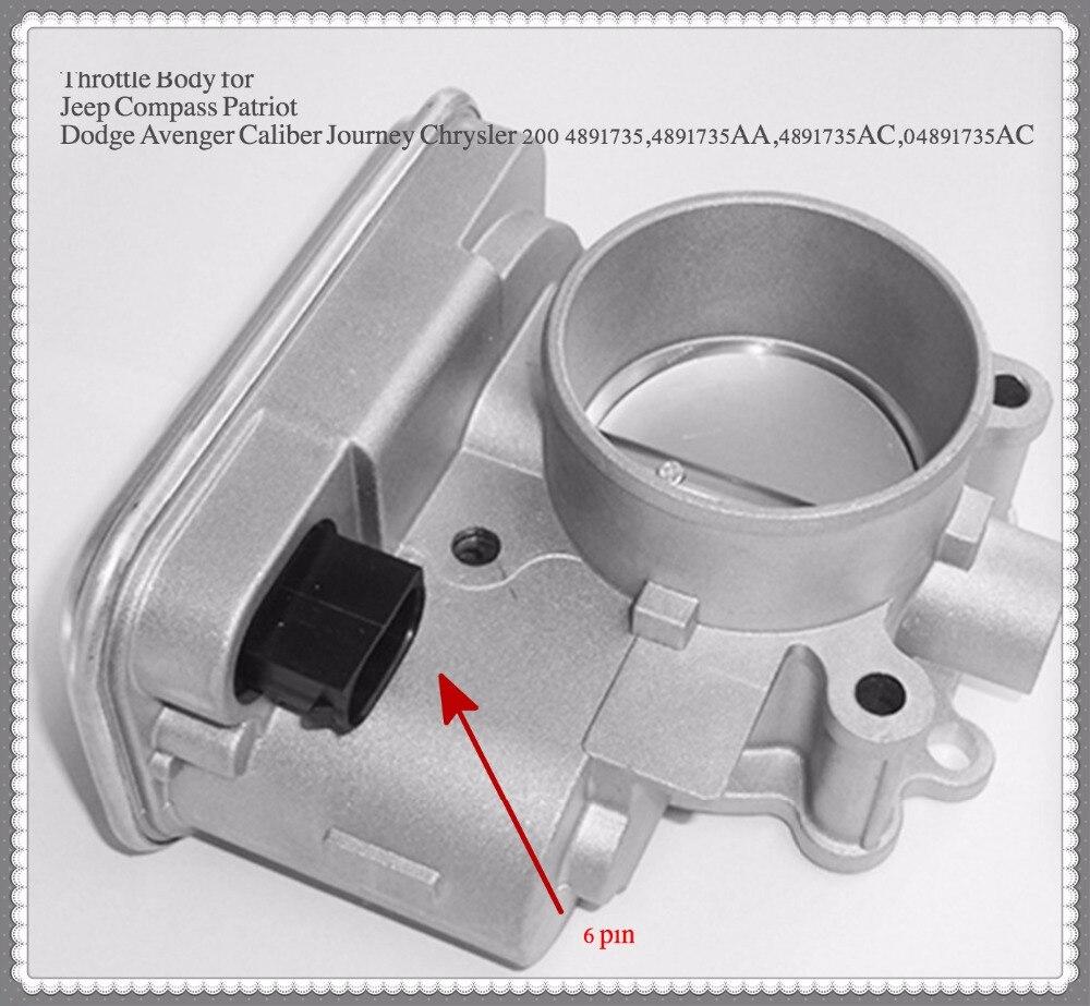 Corps d'accélérateur pour Dodge calibre voyage Avenger 1.8L 2.0L 2.4L # 04891735AC ensemble de soupape d'accélérateur qualité OEM 6pin