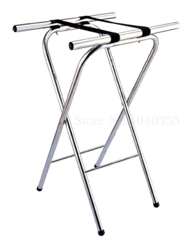 Hotel luggage rack stainless steel rack hotel room folding luggage clothing tray rack home office - Цвет: VIP 2
