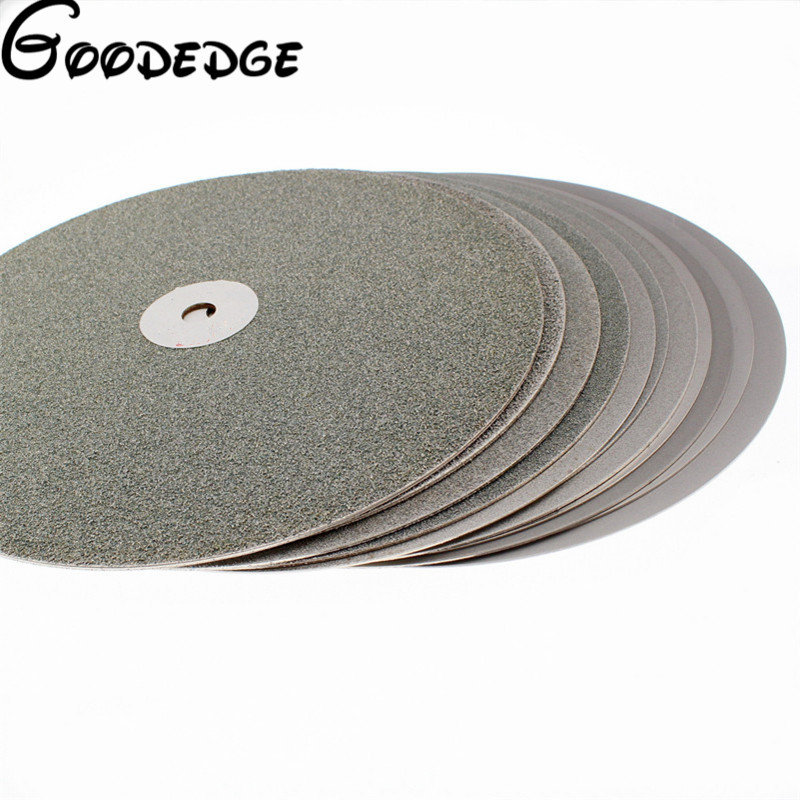12 inch Grit 60-2000 Electroplated Diamond Grinding Disc Wheel Coated Flat Lap Disk Lapidary Tools for Gemstone Jewelry Glass