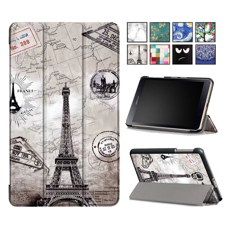 Case for Samsung Galaxy Tab A 8.0 T380 T385 2017 8.0 inch Cover Funda Tablet PU Leather Folding Flip Stand Shell 360 rotary flip open pu case w stand for 10 5 samsung galaxy tab s t805 white