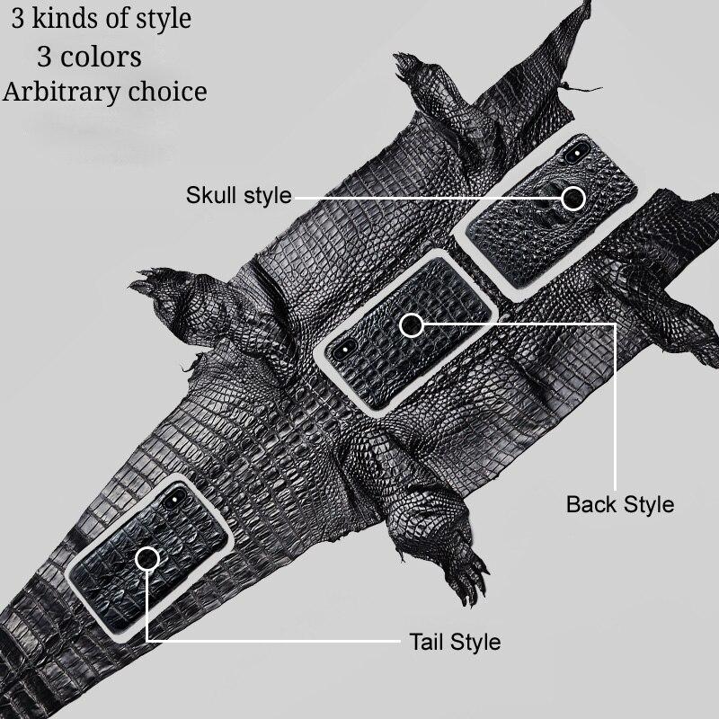 Véritable peau de crocodile téléphone étui pour huawei Mate 10 téléphone couverture arrière de protection en cuir téléphone étui pour huawei p9 lite - 5