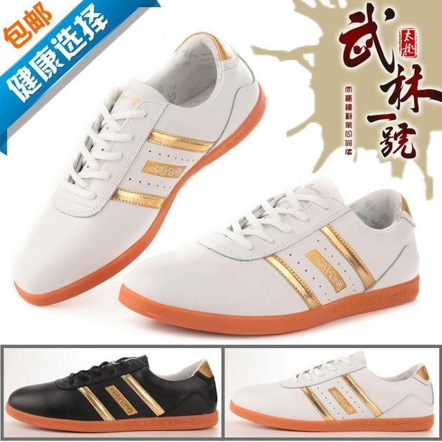 Тай-Чи обувь из мягкой кожи Dichotomanthes Нижние Тайцзи Кунг-Фу боевые искусства обувь Натуральной кожи обувь, Обратите Внимание, размер 34-45
