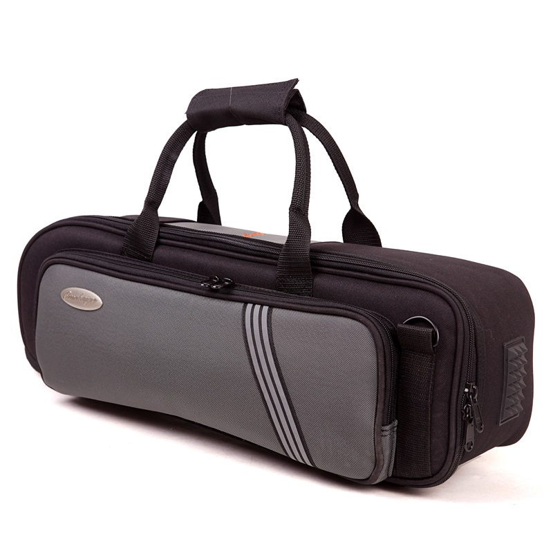 Thicken soft bag stable Bb trumpet case waterproof trumpet instrument bags portable black gray color Bb