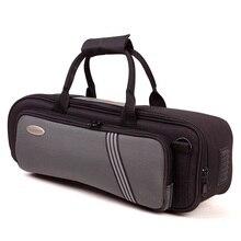 Утолщенная мягкая сумка стабильный чехол Bb Труба водонепроницаемый труба инструмент сумки портативный черный серый цвет Bb Труба инструмент Чехол