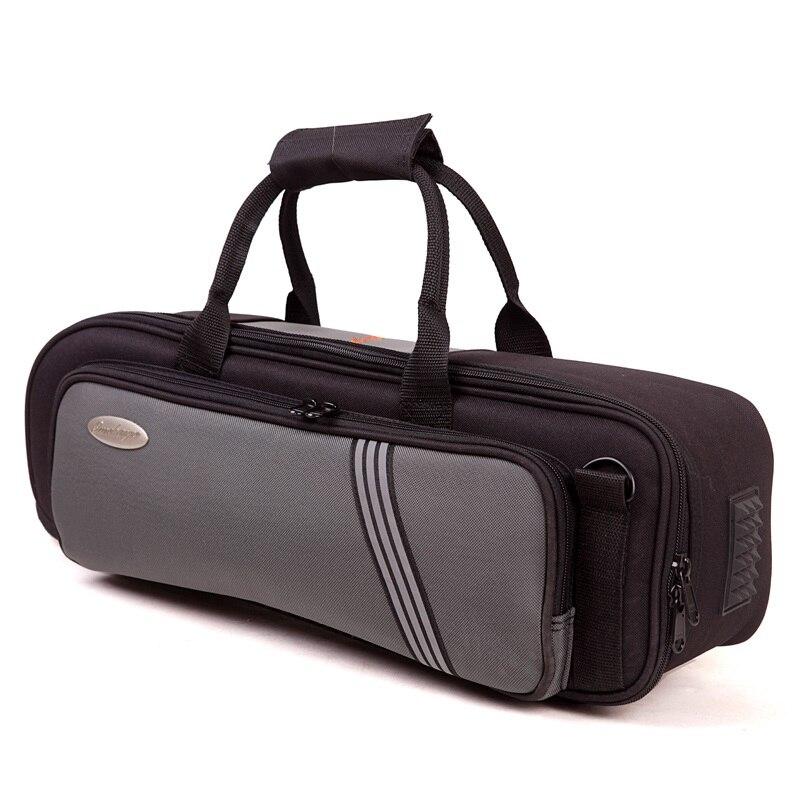 Épaissir sac souple stable Bb trompette étui étanche trompette instruments sacs portable noir gris couleur Bb trompette étui à instruments