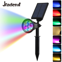 Jiaderui 7 LED Auto Color Changing Solar Spotlight Outdoor Lighting Solar Powered Security Landscape Wall Light