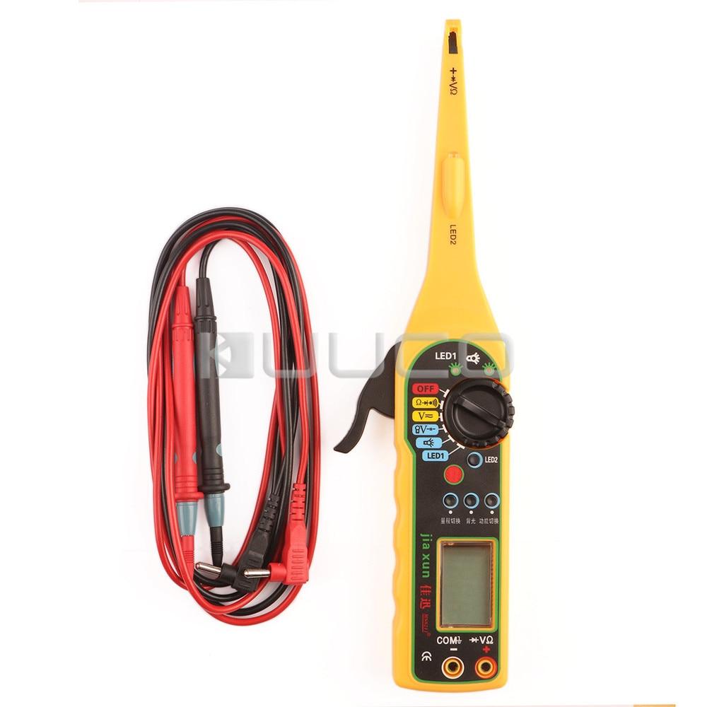Circuito automático línea herramienta detector electricidad multímetro/lámpara de prueba/Iluminación lámpara/sonda 4in1 coche probador de reparación