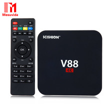 Mesuvida SCISHION V88 Смарт TV Box Rockchip 3229 Quad Core 4 К H.265 1 ГБ DDR3 RAM 8 ГБ eMMC ROM Мини ПК Android TV Box Set-Top коробка