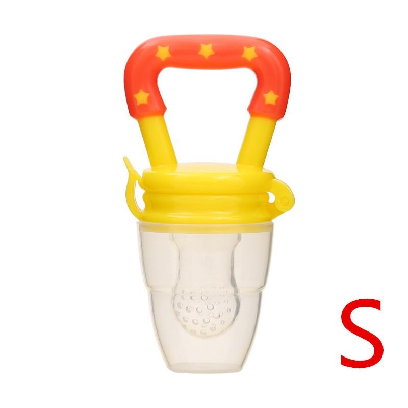 Детская соска для свежего питания, соска для кормления детей, соска для кормления фруктов, безопасные соска, бутылочки - Цвет: yellowS