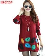 UHYTGF зима Для женщин вязаный свитер корейской моды Befree Большие размеры женские  свитера и пуловеры Для d1dd64c3d16