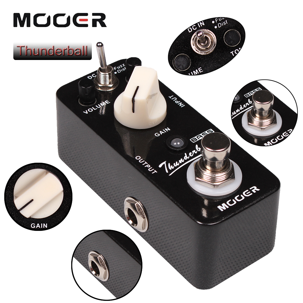 Mooer Thunderball Full Metal Shell True Bypass 2 Mode Bass Fuzz and Distortion Effect Pedal nux metal core distortion stomp boxes electric guitar bass dsp effect pedal 2 metal hardcore sound true bypass