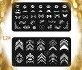 Nail Art Stamping placas equipo, 2 unids diseño de uñas Clavo Que Estampa Las Placas de la Imagen del Acero Inoxidable/Plantilla Del Sello Del Clavo Tools11