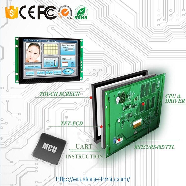 3 года гарантии! 5 дюймов дисплей HMI Панель с RS232 RS485 ttl Поддержка любой микроконтроллер - 2