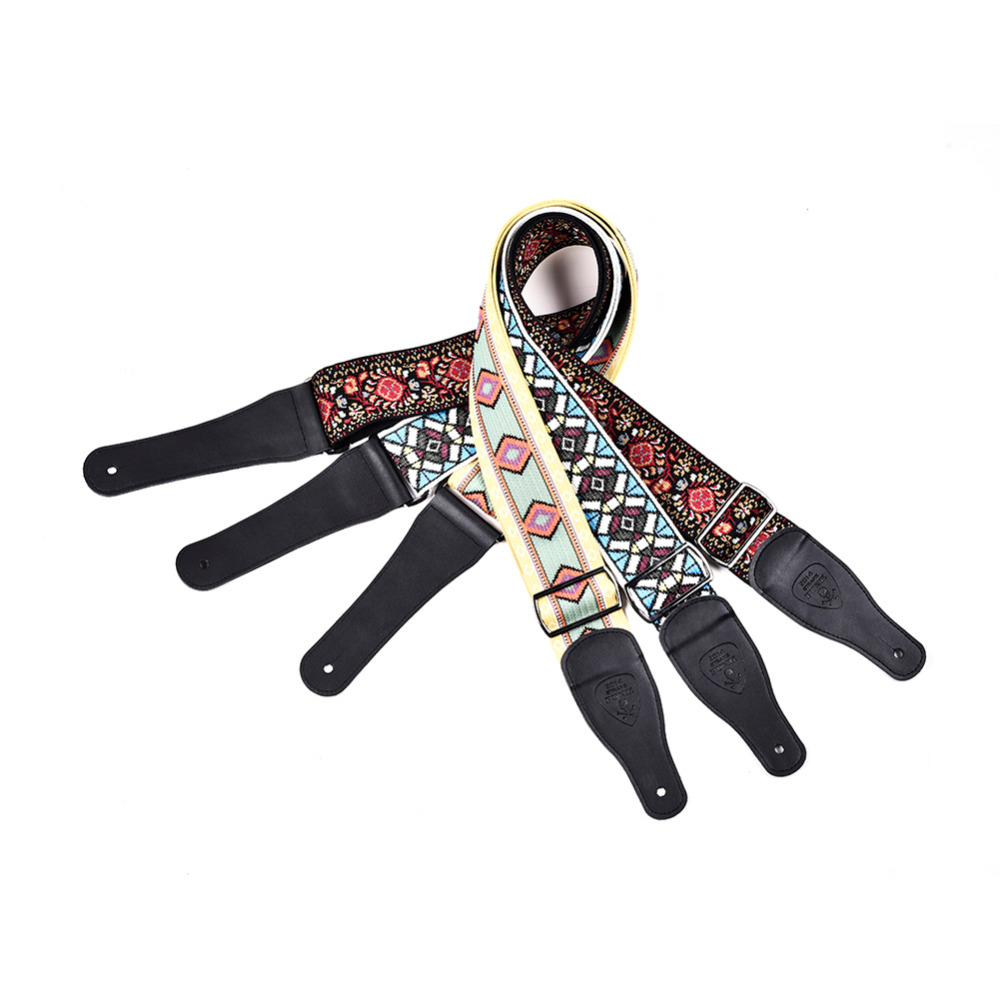 Guitar Bass Strap High-end Double Jacquard Guitarra Strap in 6CM / 2.36IN of High-end Double Jacquard with a Metal Buckle 2 in 1 waterproof headlamp headlight xml t6 outdoor sports head lamp front bikelight& 4 18650 battery pack worked charger