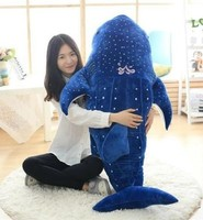 huge 150cm cartoon dark blue whale plush doll soft hugging pillow toy birthday gift h2827