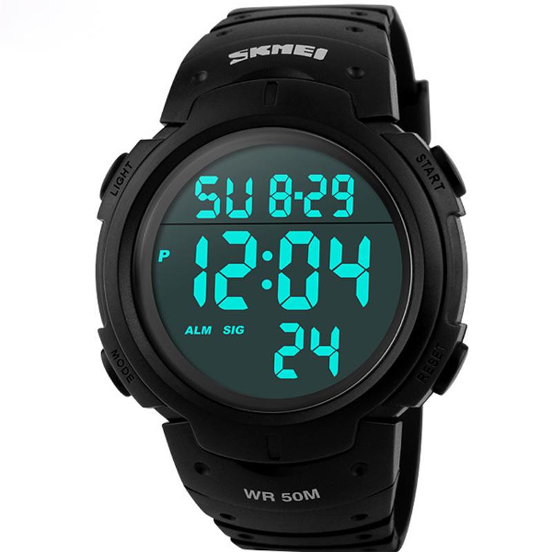 Prix pour Skmei Marque De Luxe Hommes Sport Montres de Plongée 50 m Numérique LED Militaire Montre Hommes Mode Casual Électronique Montres Hot Horloge