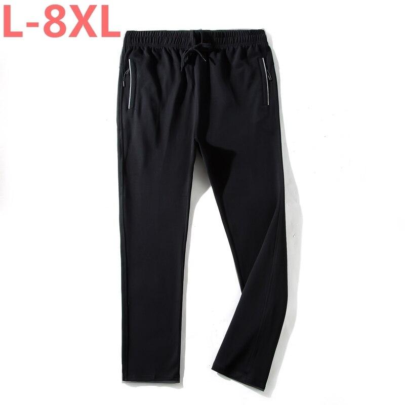 plus size 8XL 7XL 6XL 5X New Mens Long Sweats Pants Casual Joggers Elastic Waist Fitness Workout Sweat pants Trousers Tracksuit