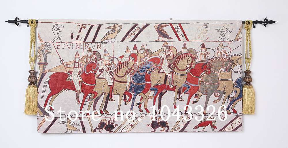 80 140CM home decoration 11th century Bayeux Tapestry la reine Mathilde wall hanging tapestry RS 28