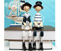 Hot models creative household decorations painted sets of two navy doll hanging feet XZ-1089AB