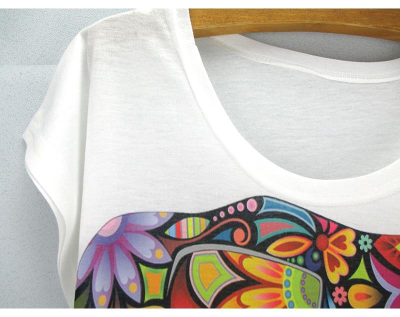 HTB1h7DdLVXXXXXXXVXXq6xXFXXXt - New fashion Flower Elephant printed t shirts women summer tees