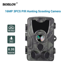 HC801A 16MP 1080P 3xPIR 0.3S Waterproof Night Vision Wildlife Game Trail Camera Scouting CAM цена и фото