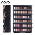 Moda eye makeup palette natural novo make up luz 10 a Sombra do Olho cores Shimmer Matte Eyeshadow Cosméticos Set Com Escova 1 PC