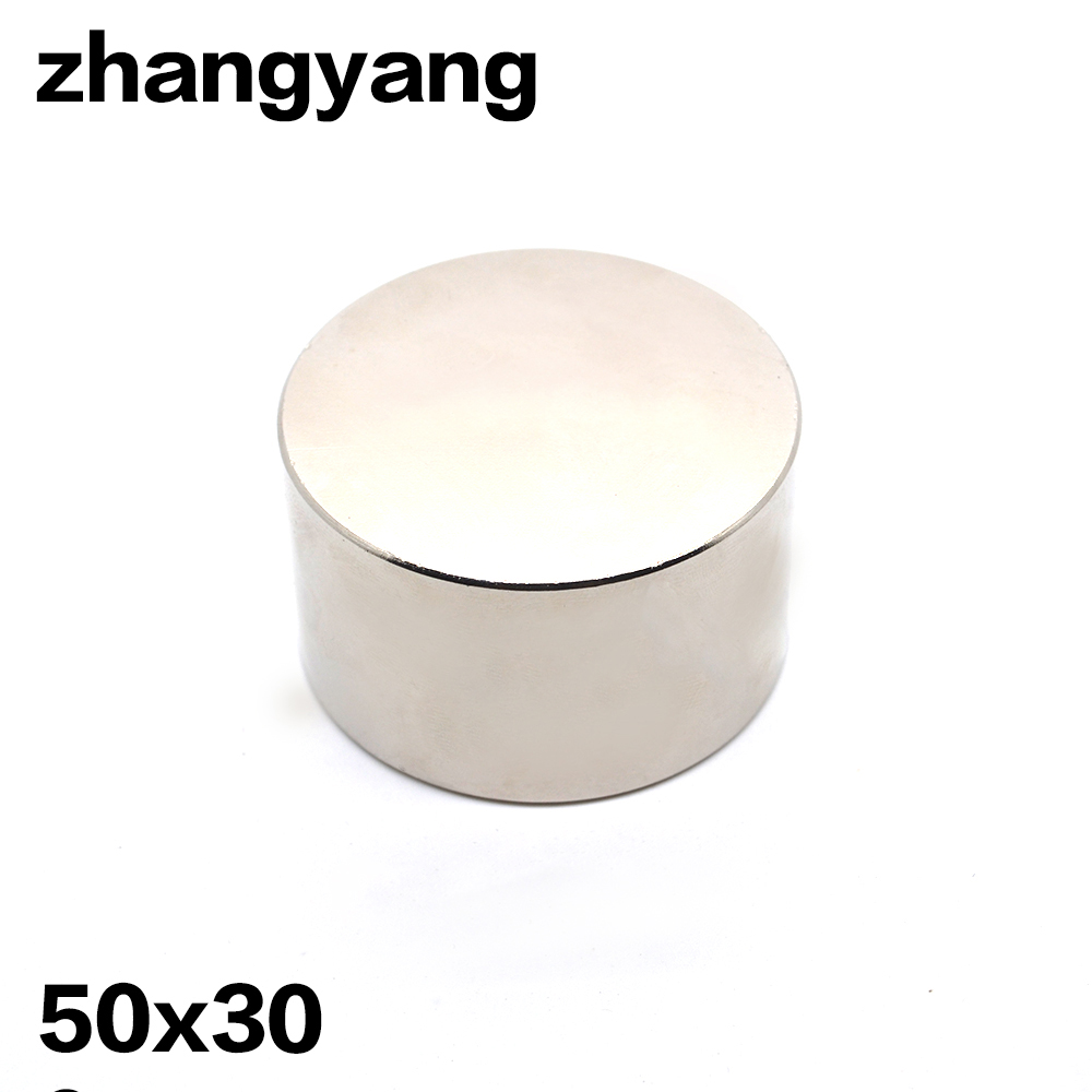 1pcs Neodymium magnet D50x30mm hot super strong round magnets Rare Earth 50*30mm N52 strongest permanent powerful magnetic