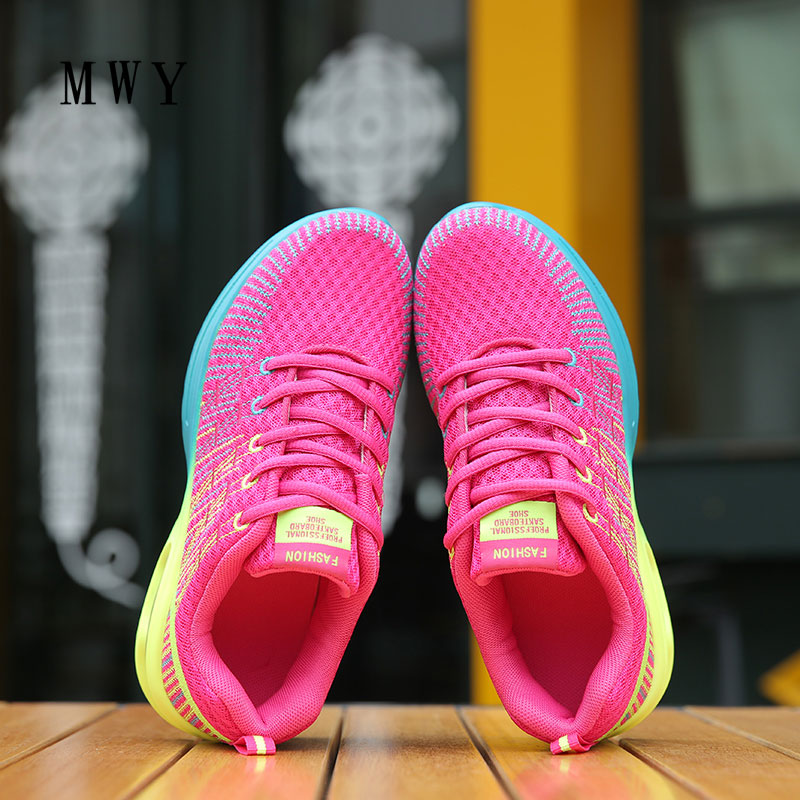 MWY Women Shoes Breathable Mesh Spring Casual Shoes Outdoor Walking Sneakers Shoes Lace Up Women Mixed Colors tenis feminino real fur winter shoes women mixed colors thick platforms shoes 2018 lace up ultra women sneakers mesh leather casual women shoes