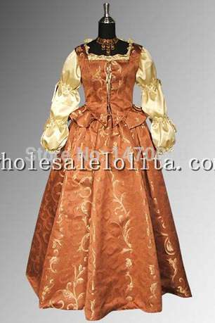 Custom Made 17th Century Brocade Renaissance Style Dress Ensemble Including Bodice In Dresses From Women S Clothing Accessories On Aliexpress