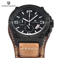 Pagani Дизайн Часы Для мужчин Военное Дело кожа кварцевые часы Элитный бренд Водонепроницаемый многофункциональные спортивные wistwatch Relogio Masculino
