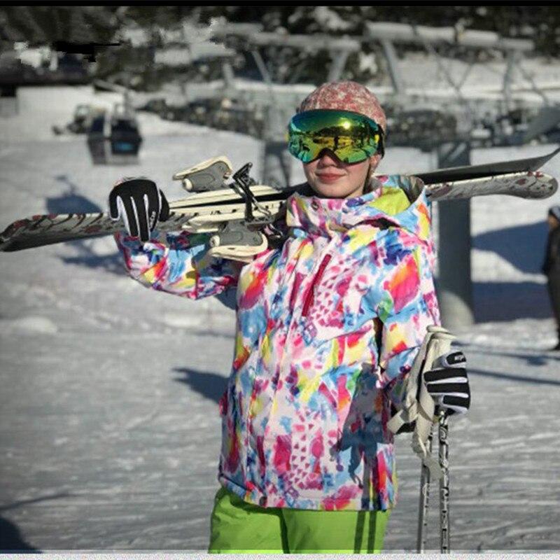 Combinaison de Ski d'hiver pour femmes veste et pantalon Super chaud haute qualité coupe-vent imperméable Ski thermique combinaisons de snowboard
