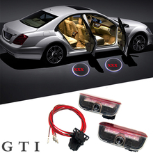 цена на 2pcs LED Car Door Light Courtesy Laser Projector Guest Light FOR VW Golf 5 6 7 Passat B5 B6 B7 T5 Touran Jetta MK5 MK6 CC GTI