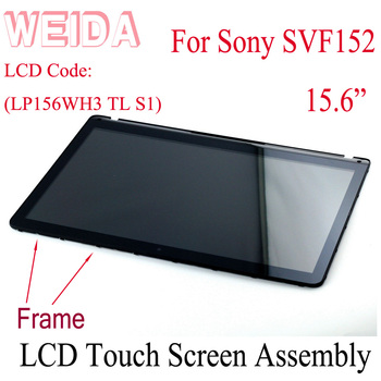 15 6 lcd screen panel display matrix replacement lp156whu tpa1 lp156wh3 tps2 b156xtn03 1 n156bge e41 for acer aspire v7 WEIDA LCD Replacement 15.6 For Sony  SVF152 LCD Display Touch Screen Assembly Frame LP156WH3 TL S1 LCD SVF152