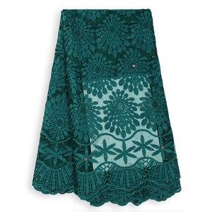 Image 1 - Tissu en dentelle française en dentelle de haute qualité, tissu nigérian en dentelle de Tulle africain, tenue de soirée, pour femmes, collection offres spéciales