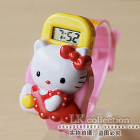 Little cute cat child student cartoon style child favorite character watch