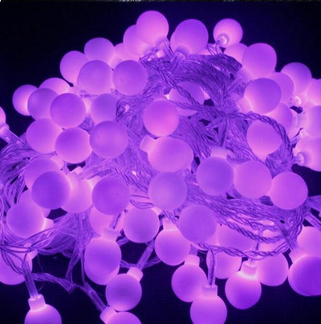 Us 109 9 10 Mt 100led String Von Kugelleuchten Weihnachten Lichterkette Blink Lichter Led Streifen Lampe Kugel Beleuchtung Fur Hochzeit X 10 Stucke