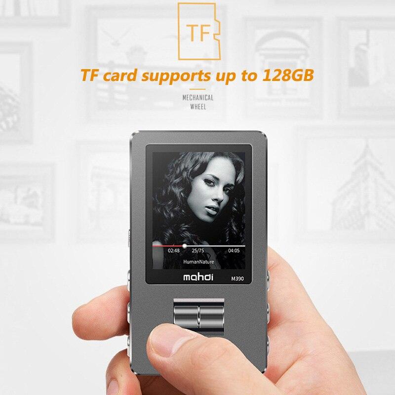 Mahdi M390 Hifi Lossless MP3 Player 8GB Radio Metal Variable Speed FM Lyrics Walkman 1.8