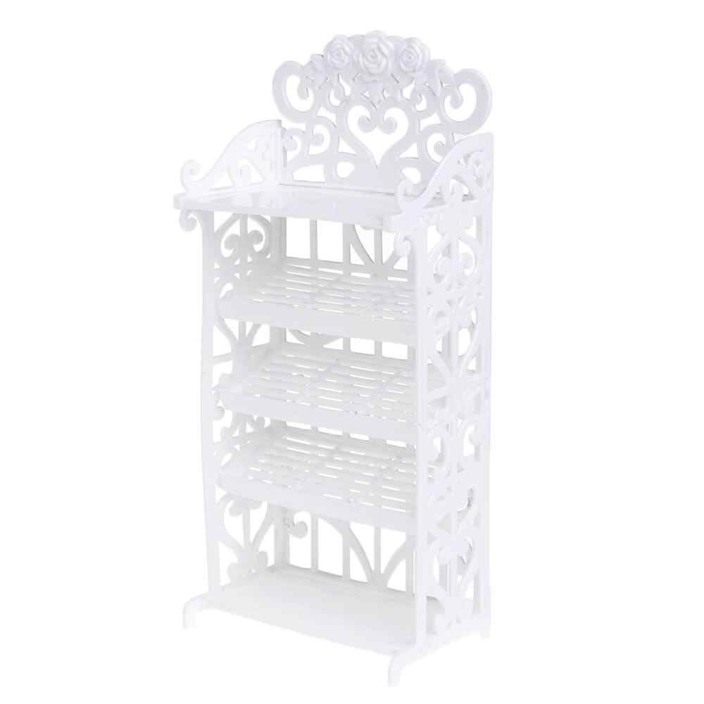 Newest Doll Shoe Rack House Accessories Barbie Furniture Children Toys Storage