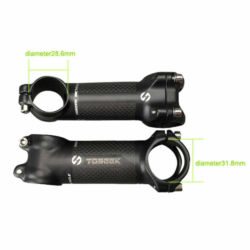Barra de manillar de aleación de aluminio clara 3K fibra de carbono manillar elevador bicicleta de carretera MTB manillar piezas de repuesto de bicicleta 31,8mm