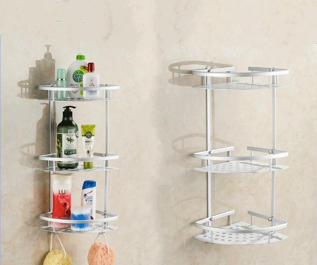 Dicken Aluminium 3 Schicht Badezimmer Eckregal Wand Waschen Dusche