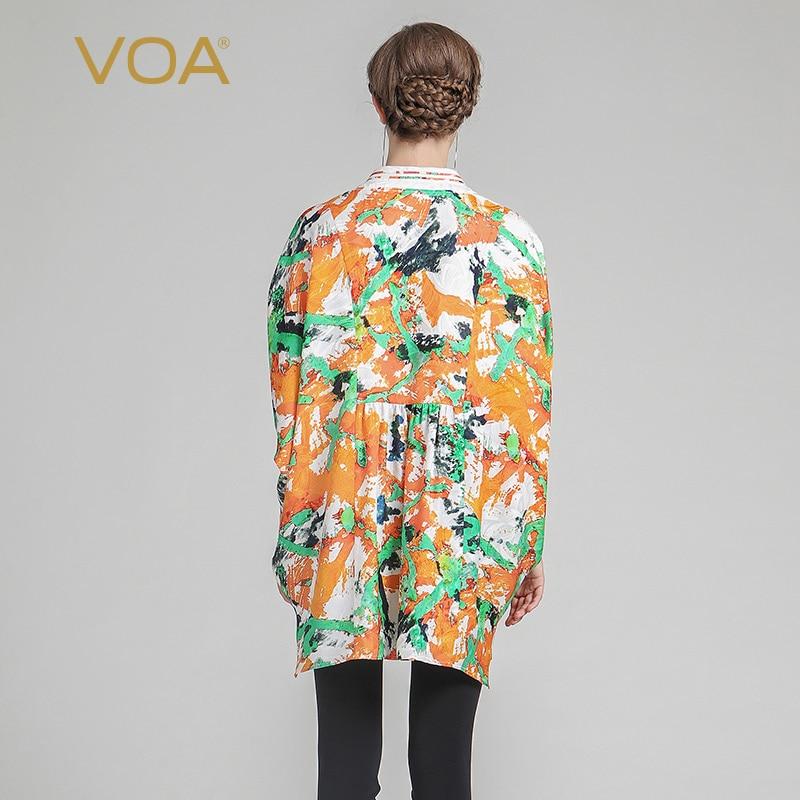 VOA 2019 Musim Panas Mode Sutra Kimono Pencetakan Lengan Pendek Tee - Pakaian Wanita - Foto 2