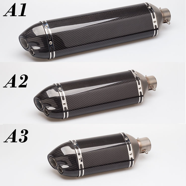 36-51mm universal modified carbon fiber motorcycle Muffler motorcycle Exhaust z900 rc390 r6 zx6r gsxr750 NINJA250 CBR300 NK150 universal motorcycle modified exhaust escape motorbike carbon fiber muffler with sticker db killer for r25 z750 ninja250 mt 09