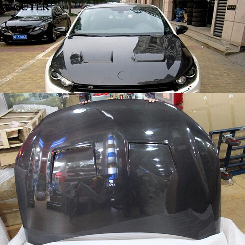 R Стиль углеродного Волокно передний капот Капоты для автомобиля Чехлы для мангала для V ...